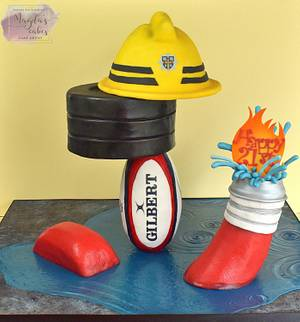 Cake for firefighter/rugby player/body builder - Cake by Magda's Cakes (Magda Pietkiewicz)