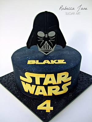 Star Wars Darth Vader Cake - Cake by Rebecca Jane Sugar Art