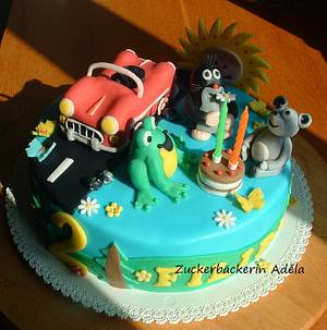The Mole and his friends :-) - Cake by Adéla