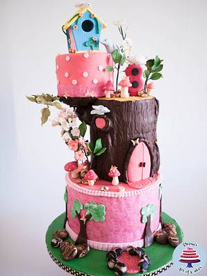Birdhouse Enchanted Forest Cake  - Cake by Veenas Art of Cakes