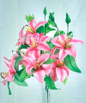 Wafer paper Lilies for a bouquet - Cake by Artym