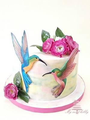 Hummingbirds - Cake by Albena Nacheva