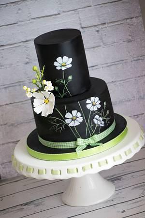 Cosmos flowers cake - Cake by Vanilla & Me
