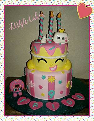 Shopkins cake & toppers - Cake by Luga Cakes