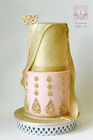 Couture Cakers collaboration 2017- Indian Couture - Cake by Expressions Cake Art (Su)