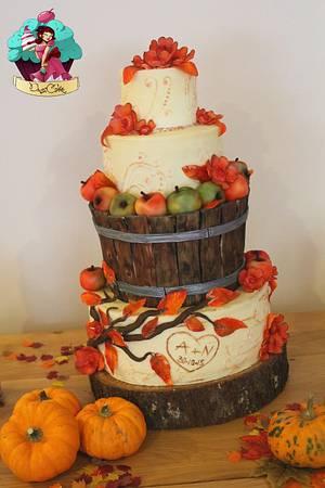 Autumnal Wedding - Cake by DusiCake