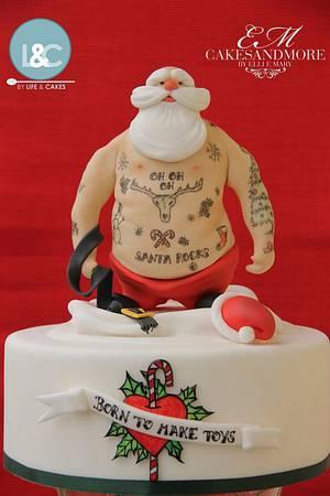 Tattooed Santa - Cake by Laura