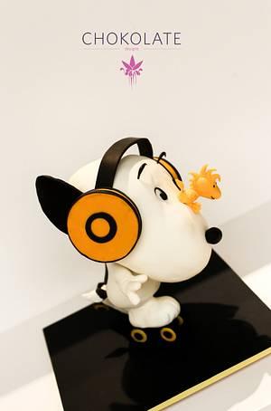Snoopy  Peanuts - Sculpted Cake - Cake by ChokoLate