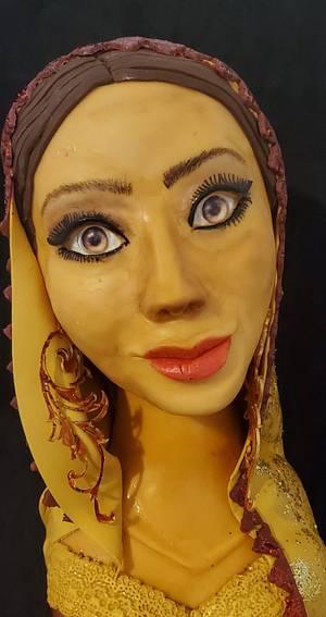 Bangladesh Lady - Cake by Claudia flores Godinez