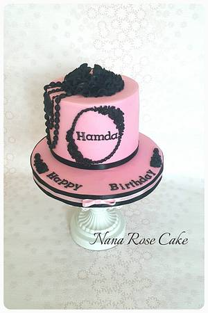 Black and pink cake  - Cake by Nana Rose Cake