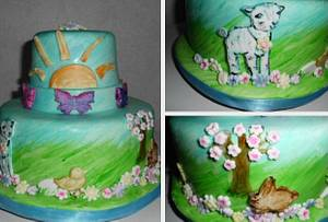Hand Painted Easter Water Color Easter Cake - Cake by Carrie Freeman