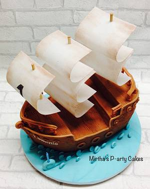 Pirate ship cake - Cake by Mirtha's P-arty Cakes