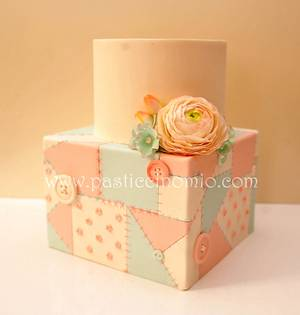Patchwork Engagement Cake - Cake by Pasticcino Mio