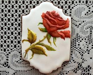 My Red Rose cookie. - Cake by Sweet Dreams by Heba