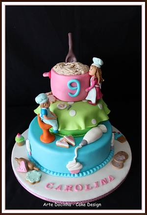 Bolo de aniversário - Cake by Arte docinha - cake design