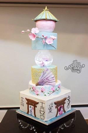 The Japanese Geisha Wedding - Cake by deliciousventures