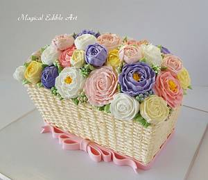 Butter cream flower cakes - Cake by Zohreh