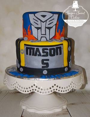 Transformers - Cake by Sugar Sweet Cakes