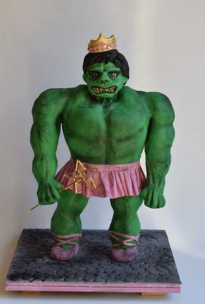 Hulk in Tutu - Cake by Cakes for mates