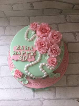 Vintage roses  - Cake by melinda