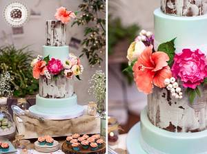 Rustic & Blossoms Wedding cake by Mericakes - Cake by Mericakes
