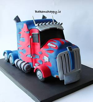 Optimus prime cake - Cake by Elaine Boyle....bakemehappy.ie