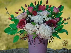 Flowers from my garden - Cake by Delia's_cake studio