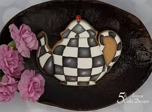 MacKenzie-Childs Inspired Teapot Cookie 🍵💐 - Cake by Bobbie