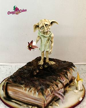 Dobby and book of monsters - Cake by crazycakes