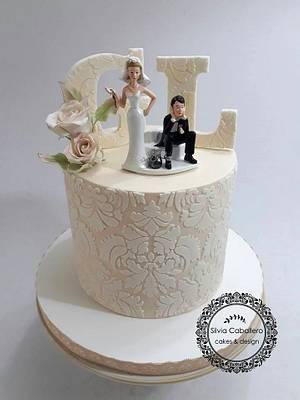Funny wedding cake - Cake by Silvia Caballero
