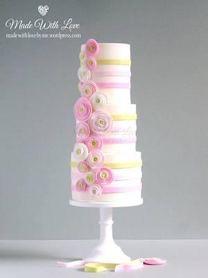 Pretty Pastels Cake - Cake by Pamela McCaffrey