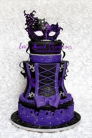 Sweet Sixteen Masquerade  - Cake by Ivanova Pichardo