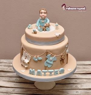Matteo's christening - Cake by Naike Lanza
