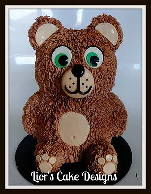3D Teddy - Cake by Lior's Cake Designs