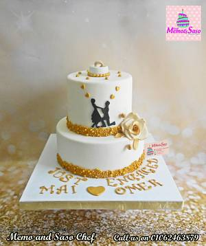Silhouette Engagement cake - Cake by Mero Wageeh