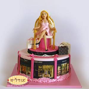 fashionista cake - Cake by Odelia Judes