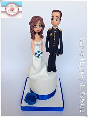 Wedding figures - Cake by Dulces Mágicos de Patricia