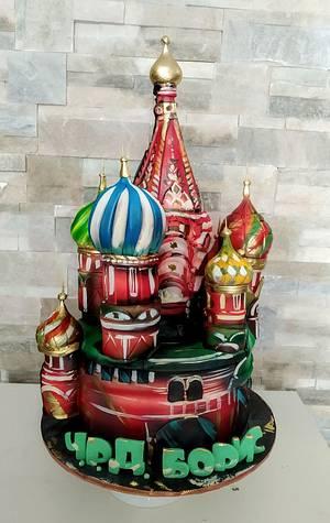 St. Basil's Cathedral - Cake by Tanya Shengarova