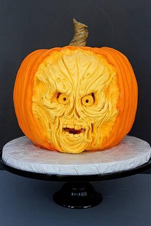 jack o lantern skull - Cake by breyanne