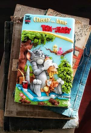 Tom and Jerry  Comic Book Cover for...... Cake Con International Collaboration - Cake by The Cookie Lab  by Marta Torres