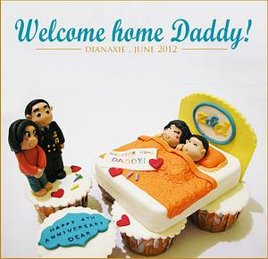 Welcome Home Daddy - Cake by Diana