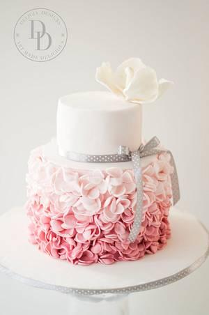 Blush Petal Ruffles - Cake by Delicia Designs