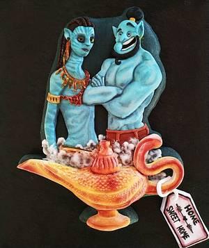 Neytiri and Genie - Cake by Cansu Beccali