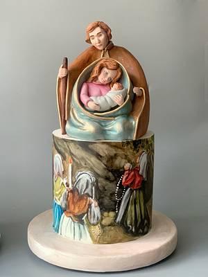 Maria in Fatima - Cake by Dsweetcakery