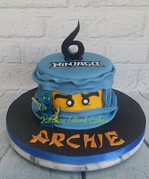 Blue Ninjago Cake - Cake by Kitchen Island Cakes