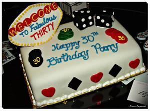 Vegas Birthday Cake - Cake by caymancake