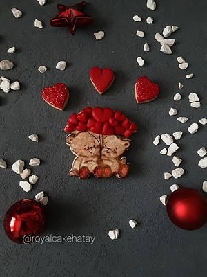 Handpaint teddy cookie - Cake by Royalcake