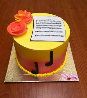 A little music  - Cake by Michelle's Sweet Temptation