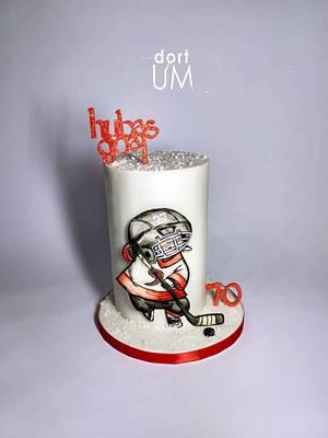 Small hockey player - Cake by dortUM