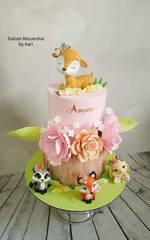 Animalitos del bosque - Cake by Karicakes